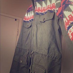 Long sleeve knit jacket